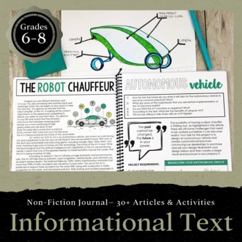 Informational Text Journal: 30+ Articles and Activities for Grades 6-8