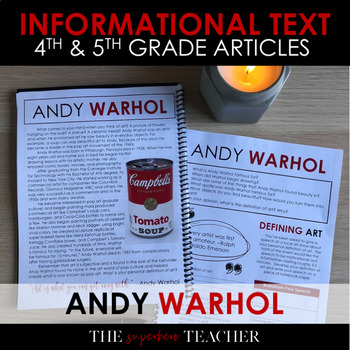Informational Text Journal: ANDY WARHOL