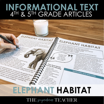Informational Text Journal: ELEPHANT HABITATS