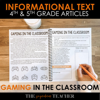 Informational Text Journal: GAMING IN THE CLASSROOM