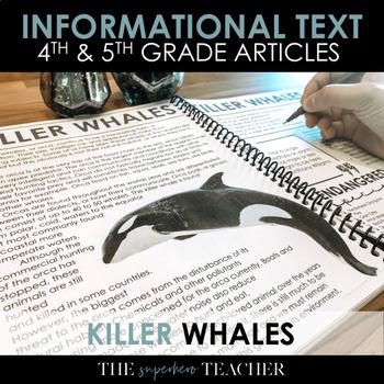 Informational Text Journal: KILLER WHALES