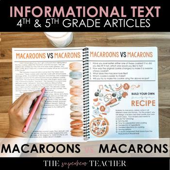 Informational Text Journal: MACAROONS VS. MACARONS