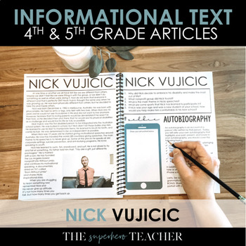 Informational Text Journal: NICK VUJICIC