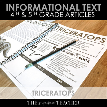 Informational Text Journal: TRICERATOPS