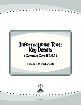 Informational Text: Key Details (Common Core RI.4.1)