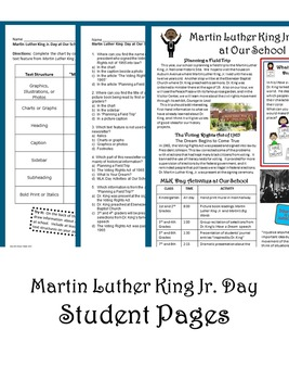 Informational Text - Martin Luther King Jr. Day