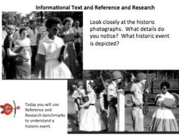 Informational Text Mini-Lesson 2:  Plessy, Brown, and Ruby Bridges