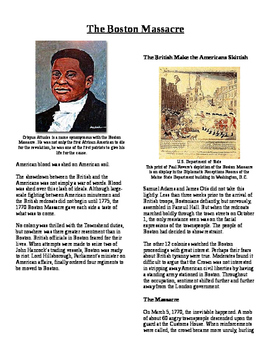 Informational Text - Events Leading to Independence: Bosto