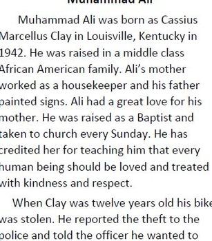 Informational Text : Muhammad Ali