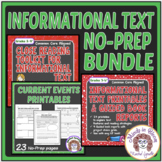 Informational Text Worksheets No Prep Bundle Distance Learning