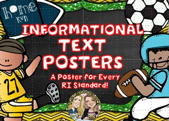 Informational Text Nonfiction Anchor Charts Sports Themed