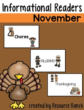 Thanksgiving Printable Readers Informational Text