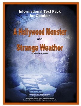 Informational Text for October and Halloween