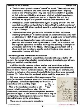 Informational Text for September