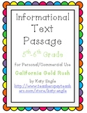 Informational Text Passage for Commercial Use - CA Gold Ru