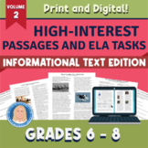 High-Interest Informational Text Passages & Tasks II - Print & Distance Learning