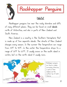 Informational Text: Penguins (Common Core Aligned)