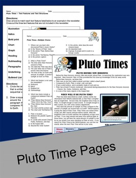 Informational Text - Pluto Times
