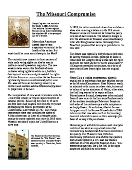 Informational Text - Politics of New Nation: Missouri Comp