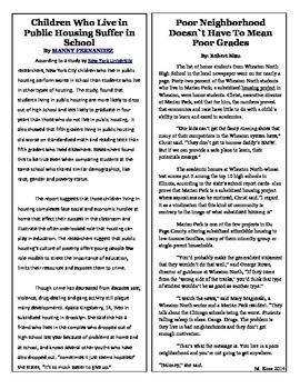 Informational Text-Poor Neighborhoods and Poor Grade (Stan