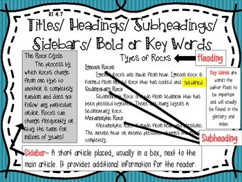Informational Text Nonfiction Anchor Charts Owl Themed