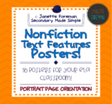 Informational Text Posters | Nonfiction Text Features | Classroom Decor