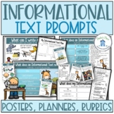 Informational Text Posters Planners Rubrics
