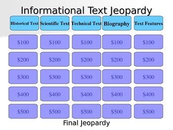 Informational Text PowerPoint Presentation