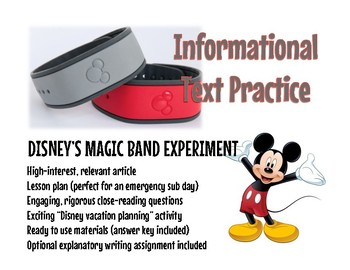 Informational Text Practice: Disney's Magic Band
