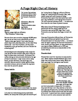 Informational Text - Prehistoric Times: A Page Right Out o