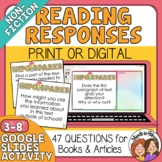 Informational Text Question Cards for Any Text plus Google