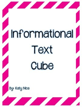 Informational Text Question Stem Dice
