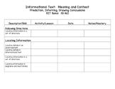 Informational Text RIT Band Checklist - 151-190