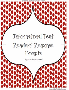 Informational Text Readers' Response Prompts: Level 1