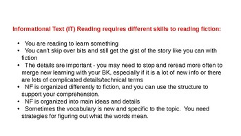 Informational Text Reading Bookmark