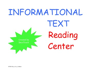 Informational Text Reading Center