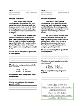 Informational Text Reading Comprehension