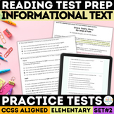 Informational Text Reading Comprehension Passages with SBAC Questions Grades 3-5