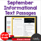 September Informational Text Reading Passages & Questions