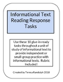Informational Text Reading Response Tasks