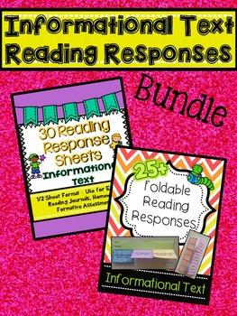 Informational Text Reading Responses BUNDLE!