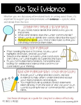 Informational Text Reading Tips & Tricks for Students