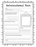 Informational Text Research Page