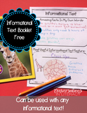 Informational Text Guided Reading Response Booklet Free   Distance Learning
