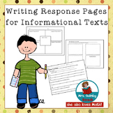 Informational Text Response - [For Any Text]- 3 Reader Res
