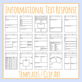 Informational Text Response / Non-Fiction Book Report or Review Clip Art Set
