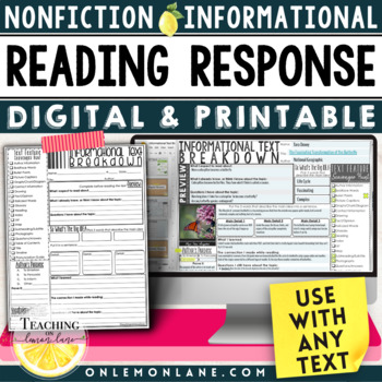 Informational Text Response (Non-Fiction Text Features Main Idea) Any Text