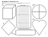Informational Text Response graphic organizer ELA middle high elementary school