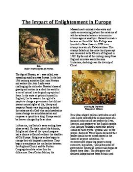 Informational Text - Revolutionary Thinking: The Enlighten