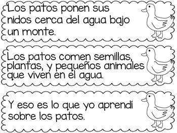 Informational Text SORT/WRITING Center FARM in Spanish